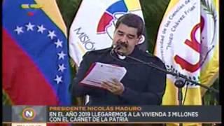 Presidente Maduro aumentó tarjeta Hogares de la Patria a Bs. 100 mil