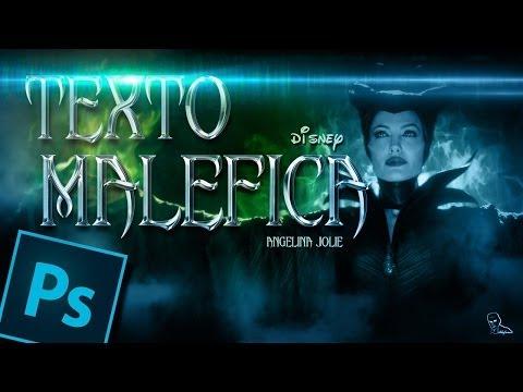 Tutorial Photoshop: texto estilo malefica by @ildefonsosegura