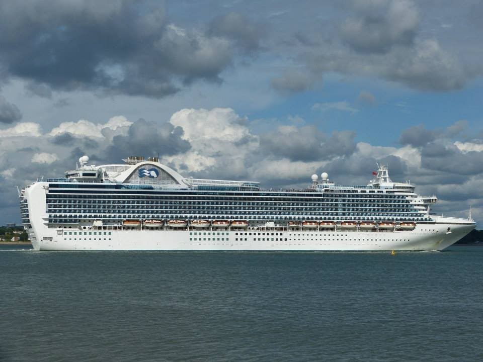 Five Cruise Ships Depart From Southampton  24052014