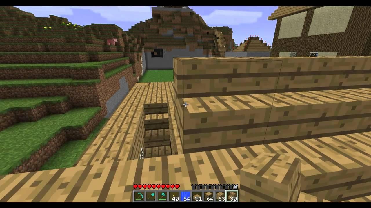 Minecraft construisons une petite maison youtube for Maison moderne 7x7