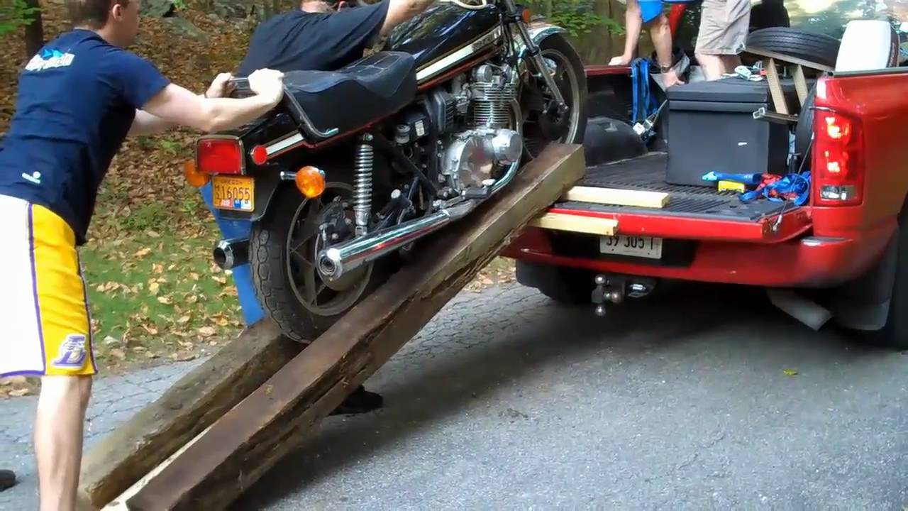 How To Load A Motorcycle Into A Truck Bed