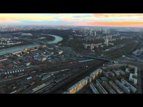 Dji Phantom 4. Воробьёвы Горы - Москва-Сити 9.7 км.