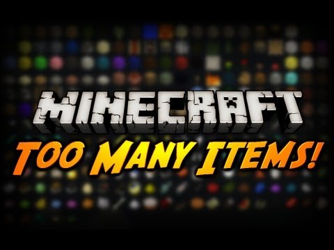 Minecraft Mod Review: TOO MANY ITEMS! (Updated for 1.8)