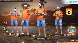 Free Fire Live || GLOBAL SQUAD SCORE 4400++ || HEROIC RUSH RANK GAMEPLAY