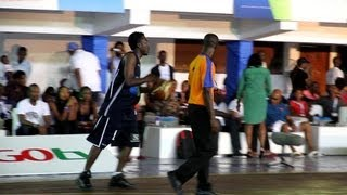 BOVI PLAYING BASKETBALL AND LOOKING VERY SERIOUS