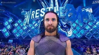 Seth Rollins Epic Entrance Wrestlemania 34 LIVE REACTION