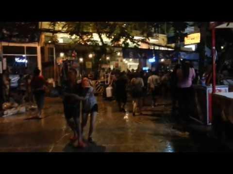 Khao San Road Nightlife(Songkran 2013)