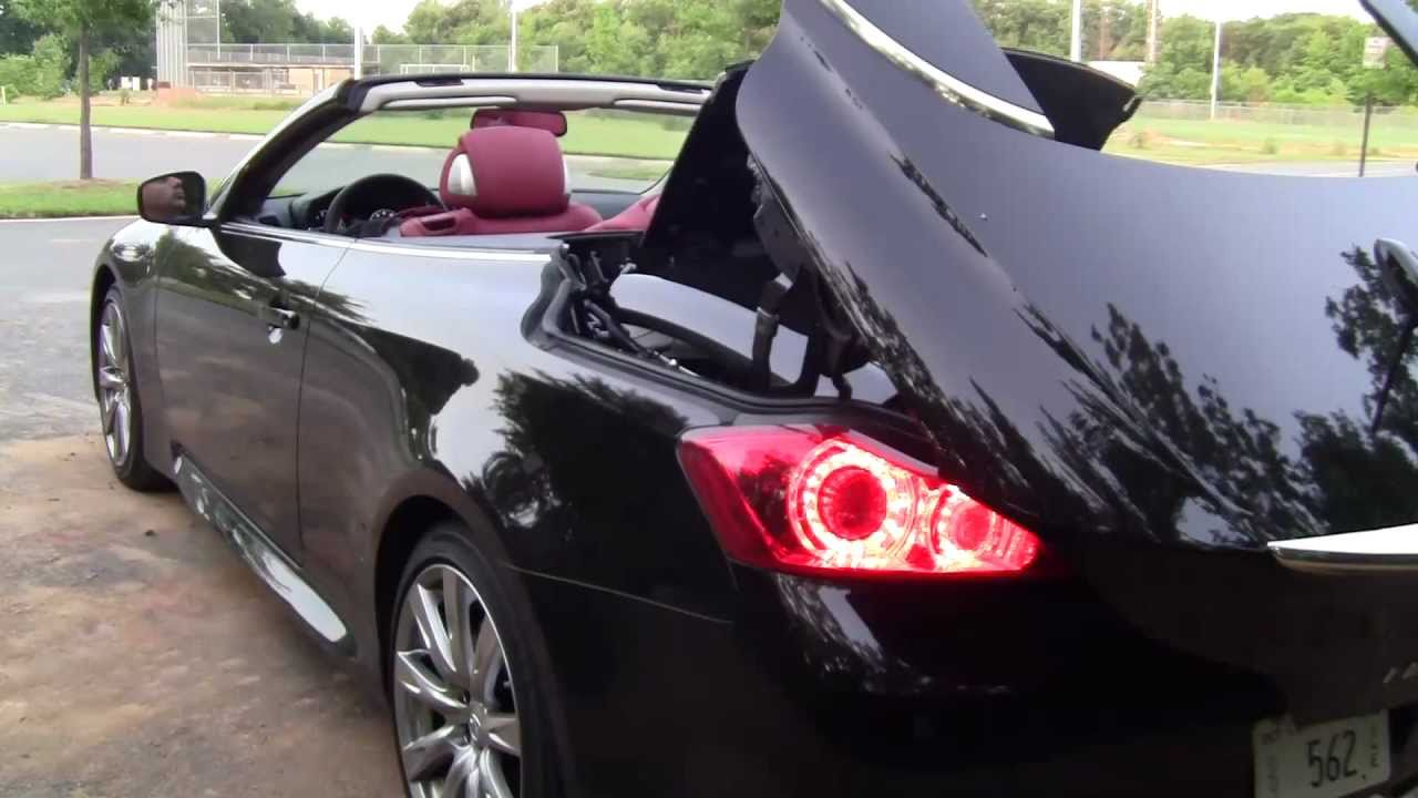Infiniti Convertible >> Infiniti G Sport Convertible Automatic Review by Drivin'Ivan - YouTube