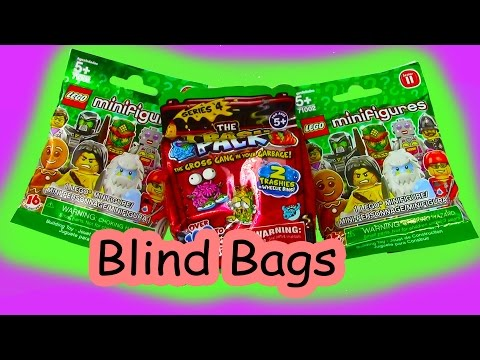 Mystery Surprise Blind Bags Trash Packs Lego Series 11 Unboxing Toy Review