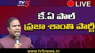 KA Paul Press Meet Live | Praja Shanti Party | TV5 Telugu Live
