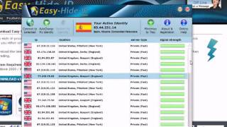 Change Your Country IP Address & Location with Easy Hide IP Software