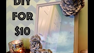 DIY Dollar Store Decor: Cheap and Chic Flower Mirror $10