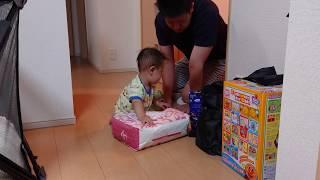 赤ちゃん 宅急便の荷物のお出迎え - baby vlog