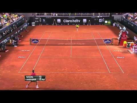 Melhores Momentos Rafael Nadal 2 VS 1 Pablo Andujar  Rio Open De Tênis