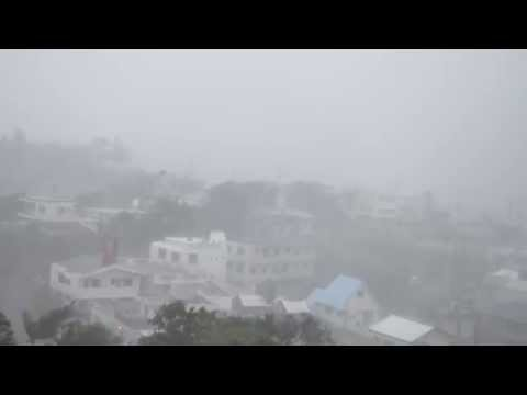 Typhoon Vongfong 2014 台風19 - from Kitanakagusuku, Okinawa, Japan; 沖縄県北中城村
