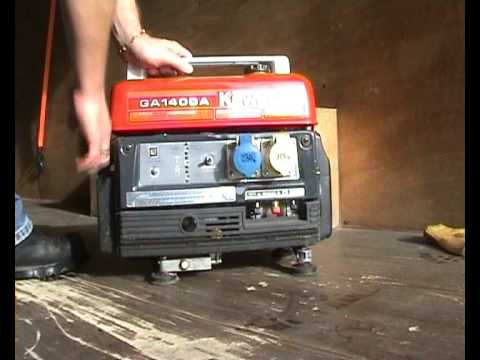 Kawasaki Portable Generator Cold Start Youtube