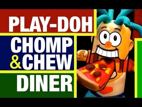 Play Doh Food Eating Chomp & Chew Food Diner Toy Review by Mike Mozart of TheToyChannel
