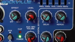 "Rockville RPG15BT 15"" Powered 1000W DJ PA Speaker BlueTooth, USB, SD, EQ, Remote"