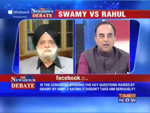 Hindustan Times was founded by Congress and it is still mouth peace of Congress - Subramanian Swamy