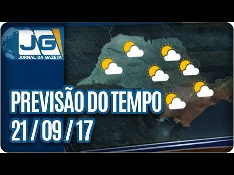 Previsão do Tempo - 21/09/2017