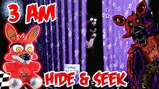 (DOOR KNOCKING?!) 3 AM OVERNIGHT ONE MAN HIDE AND SEEK CHALLENGE NIGHTMARE FOXY | WEIRD KNOCKING!!