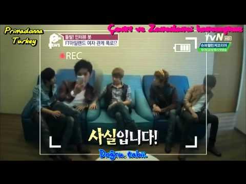 [Türkçe Altyazılı] 121024 tvN Enews(Exposing FTISLAND's Relationships!)