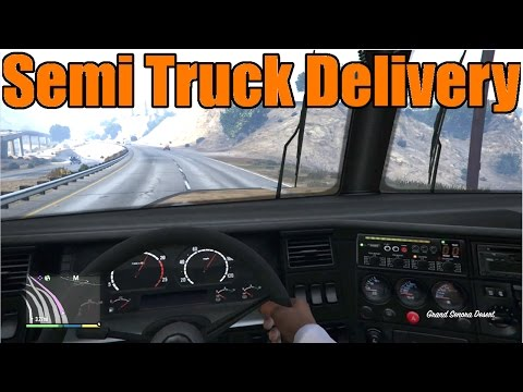 Gta 5 | Xbox One ps4 First Person Trucking! Semi Truck Delivery video