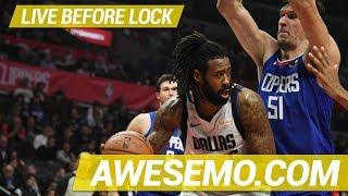 Yahoo, FanDuel & DraftKings NBA DFS Live Before Lock - Tue 1/22 - Awesemo.com