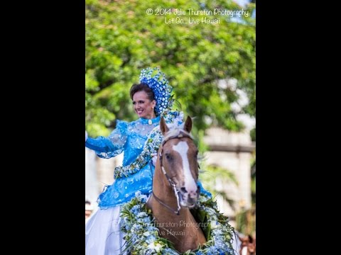 Pa'u Queen 2014 Kamehameha Day Parade Honolulu Hawaii