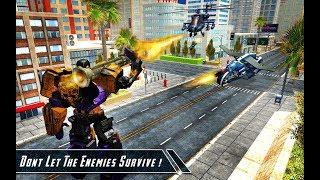 Gangster Super Transform Robot Flying Car Robo War - Video Cartoons For Kids - Android Gameplay