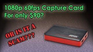 1080p 60 FPS HDMI capture card for only $90? | AGPtEK Capture Card