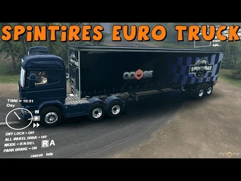 SpinTires   Scania Truck and Trailer Mod Review and Gameplay   Download Links In Description