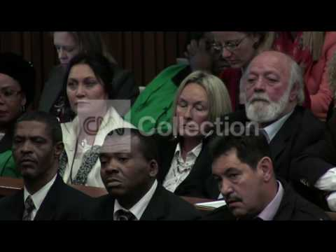 SOUTH AFRICA: PISTORIUS TRIAL - FINAL ARGUMENTS