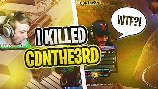 I KILLED CDNTHE3RD HIS FIRST GAME ON SHOWDOWN! (SoaR Carl Vs CDN Fortnite 1v1)