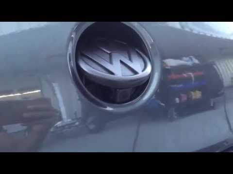 VW CC 2013 Rear Backup Camera Emblem Aftermarket Radio Install 4100NEX