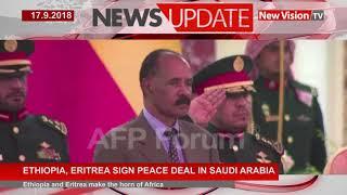 Ethiopia, Eritrea sign peace deal in Saudi Arabia