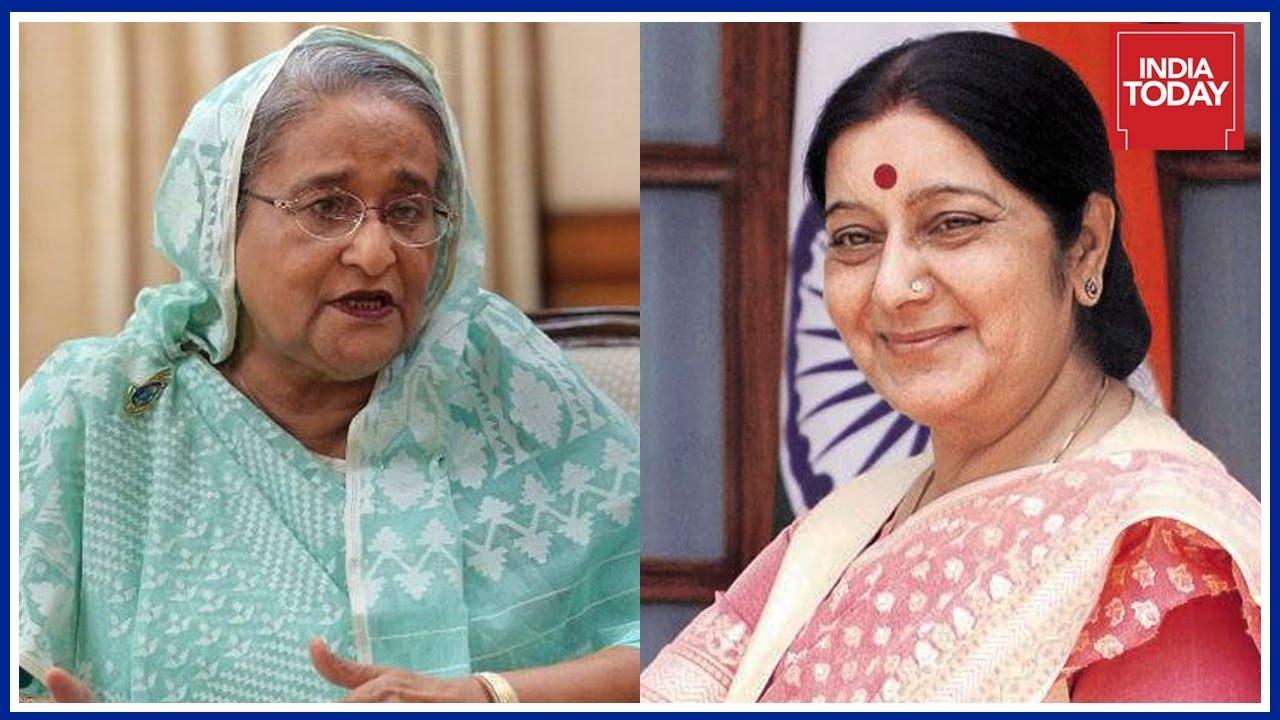 Rohingya Crisis : Sushma Swaraj Calls Up Sheikh Hasina