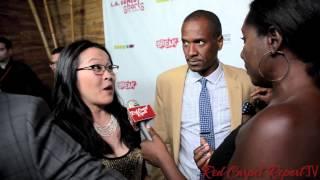 Suzy Nakamura & Jerry Minor at the L.A. Comedy Shorts Film Festival (LACS) Awards @SuzyNakamura