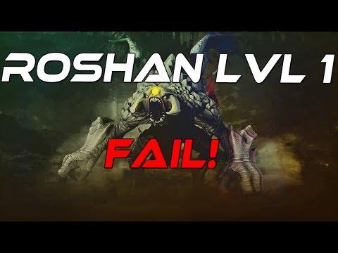 Dota 2 - Roshan Level 1 Fail!