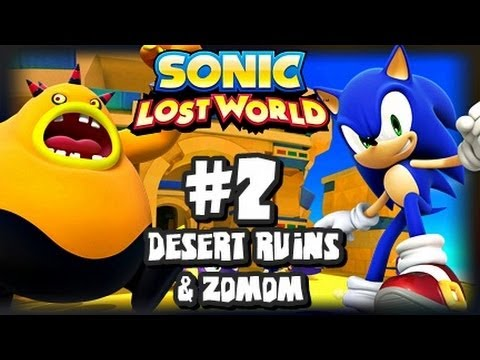 Sonic Lost World Wii U - (1080p) - Part 2 Desert Ruins & Zomom