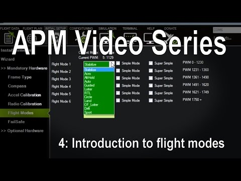 (4/8) APM 2.5/2.6/3.1 - Introduction to flight modes (stabilize, loiter, RTL etc)