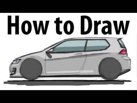 Volkswagen Golf Drawings How to Draw a Volkswagen Golf