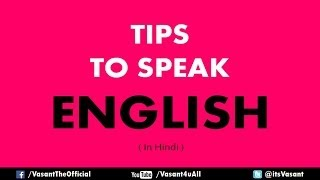 Easy way to Learn English Speaking in Hindi