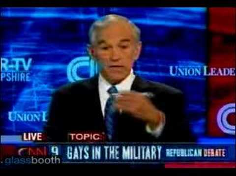 Ron Paul on Gays in the Military