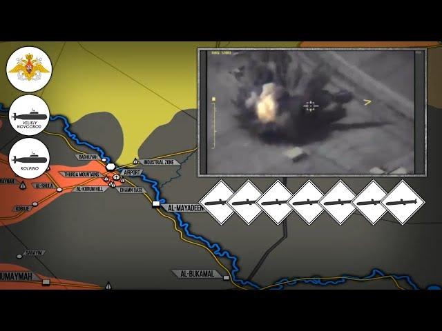 15 сентября 2017. Военная обстановка в Сирии. Россия ударила крылатыми ракетами Калибр по ИГИЛ.