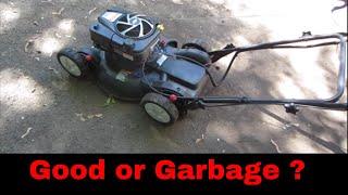 Free yard sale broken lawn mower can we fix it?