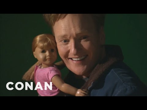 Conan Visits The American Girl Store video