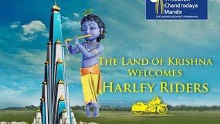 Harley Riders visited Vrindavan Chandrodaya Mandir