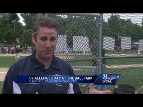 Cheerleaders, bands cheer on Challenger baseball players