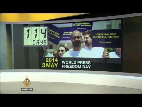 Al Jazeera marks 300 days since reporters' arrests